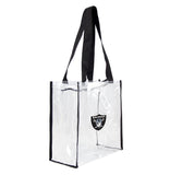 Oakland Raiders Clear Square Stadium Tote Bag