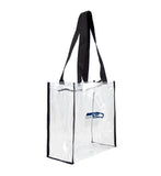 Seattle Seahawks Clear Square Stadium Tote Bag