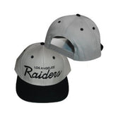 Los Angeles Raiders Snapback Retro Cap Hat Eazy E ICE CUBE GRY BLK