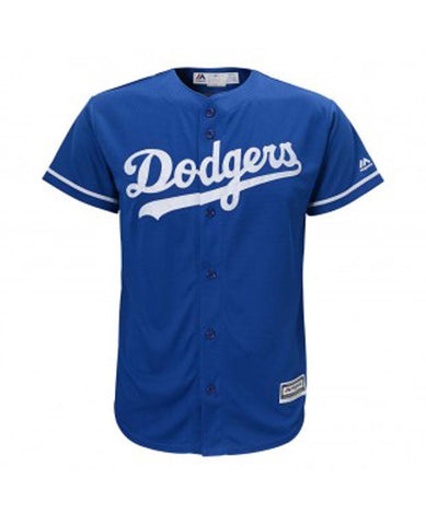 Los Angeles Dodgers Kids (4-7) Jersey Majestic Replica Cool Base Blue Jersey