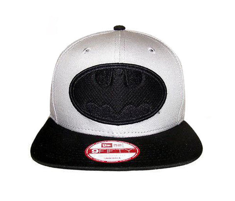 Batman Snapback New Era ORIGINAl FIT Hero Fill Cap Hat Grey Black