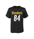 Pittsburgh Steelers Youth #84 Antonio Brown Mainliner Name & Number T-Shirt