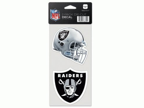 Oakland Raiders 4x4 Perfect Cut Decal 2 Pack