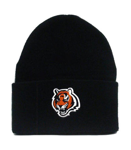 Cincinnati Bengals Embroidered Fold Beanie Cap Hat Black