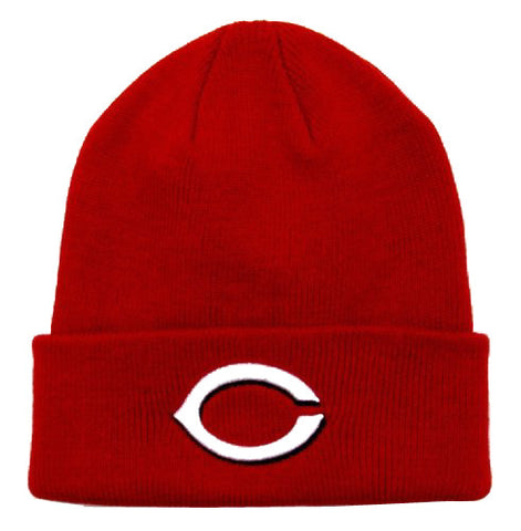 Cincinnati Reds Beanie Embroidered Folded Ski Cap