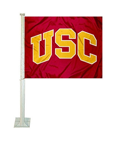 USC Trojans Auto Tailgating Truck or Car Flag Red