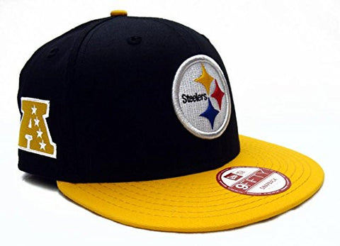 Pittsburgh Steelers Snapback Retro New Era Baycik Cap Hat Black Yellow
