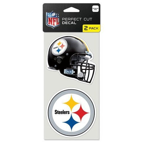 Pittsburgh Steelers 4x4 Perfect Cut Decal 2 Pack