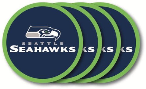 Seattle Seahawks 4 Piece Vinyl Coasters Set