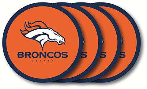 Denver Broncos 4 Piece Vinyl Coasters Set