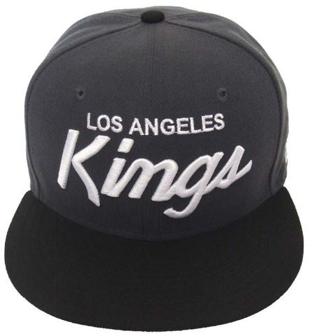 Los Angeles Kings New Era Retro Script Snapback Cap Charcoal Black