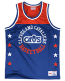Cleveland Cavaliers Mens Mitchell & Ness Championship Game Mesh Tank Orange Blue