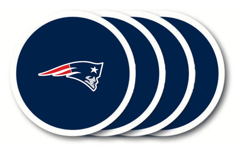 New England Patriots 4 Piece Vinyl Coasters Set
