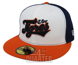 Tigres de Quintana Roo Cancun Fitted Mexican Baseball League New Era 59Fifty Tri White Orange Navy Hat Cap