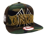 New York Yankees Snapback New Era ORIGINAL FIT Metallic Cue Cap Hat Camo