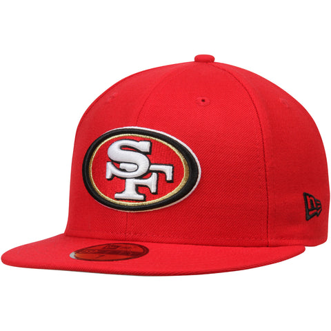 San Francisco 49ers Fitted New Era 59Fifty Omaha Cap Hat Red
