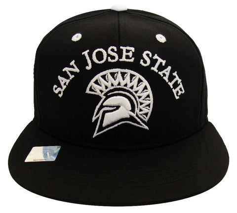 San Jose State Spartans Snapback Retro Stack Cap Hat All Black