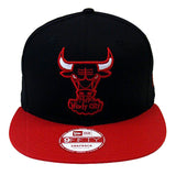 Chicago Bulls Snapback New Era Word Back Cap Hat Black Red