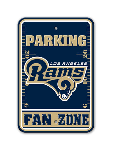 "Los Angeles Rams Plastic 12""x18"" Team Fan Zone Parking Sign"