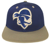 Seton Hall University Pirates Snapback Retro 2 Tone Logo Cap Hat Blue Grey