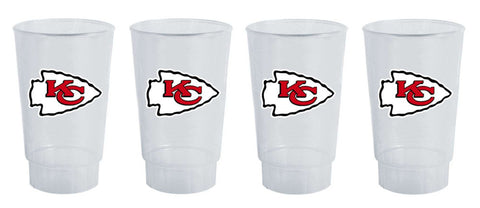 Kansas City Chiefs 4 Piece Plastic Tumbler Set