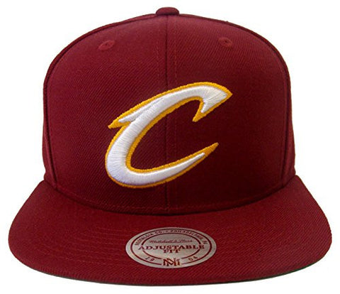 Cleveland Cavaliers Mitchell & Ness Logo Snapback Cap Hat Burgundy