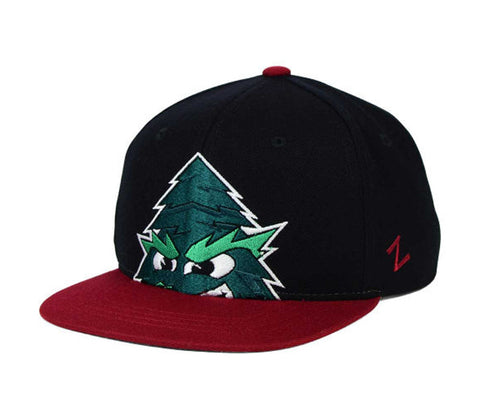 Stanford Cardinal Snapback Zephyr Youth Peek Cap Hat Black Burgundy