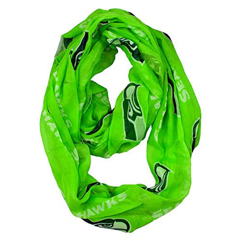Seattle Seahawks Little Earth Productions Sheer Infinity Scarf Lime Green
