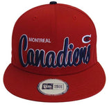Montreal Canadiens Snapback Retro Script Cap Beliveau SUPREME All Red