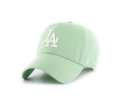 Los Angeles Dodgers Adjustable Strapback '47 Brand Clean Up Cap Hat Light Green