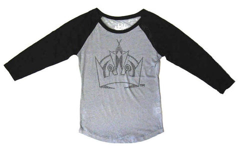 Los Angeles Kings Womens Touch Home-Run T-Shirt Grey Black