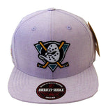 Anaheim Ducks Strapback Snapback Style American Needle Sound Denim Hat Purple