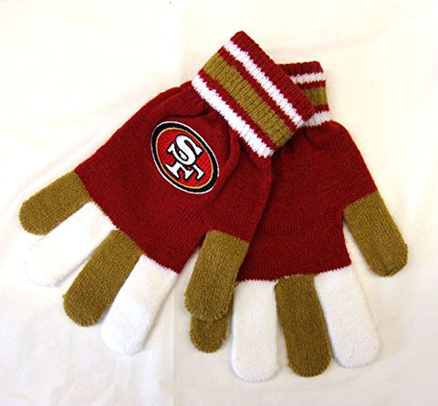 San Francisco 49ers Adult Team Logo Multi Color Knit Gloves