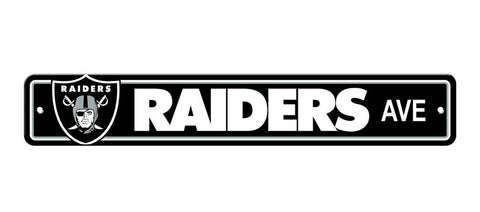 Oakland Raiders Bar Decor Plastic Street Sign