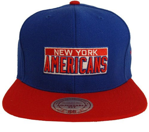 New York Americans Snapback Mitchell & Ness Throwback Cap Hat