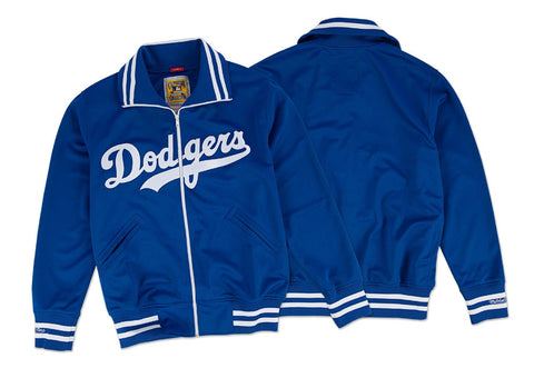 Los Angeles Dodgers Mens Jacket Mitchell & Ness 1981 Authentic BP Blue