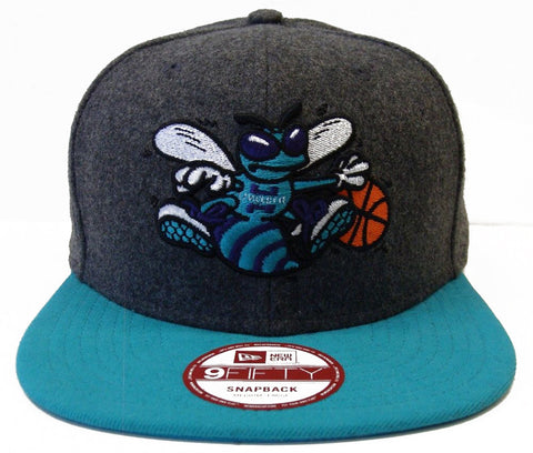 Charlotte Hornets Snapback New Era Melt Redux Cap Hat Wool Charcoal Teal