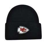 Kansas City Chiefs Beanie Embroidered Folded Cap Black