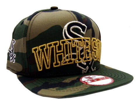 Chicago White Sox Snapback New Era ORIGINAL FIT Metallic Cue Cap Hat Camo