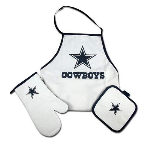 Dallas Cowboys 3-Piece Tailgate Barbeque Apron Set