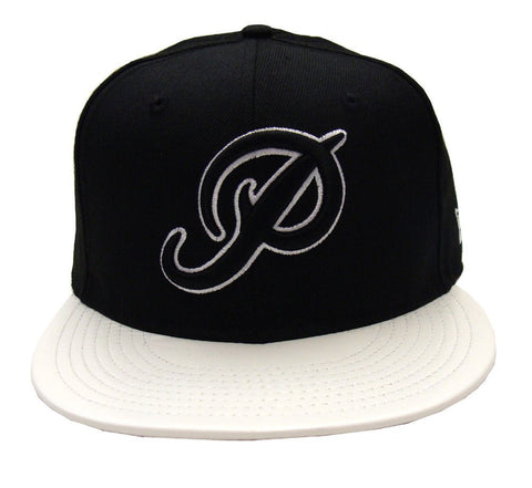 Primitive Snapback Style Strapback New Era Classic P Cap Hat Black White Leather