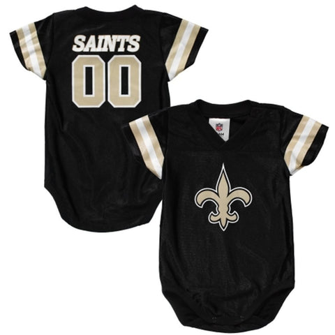 New Orleans Saints Infant (3-6 Months) Fan Bodysuit Black