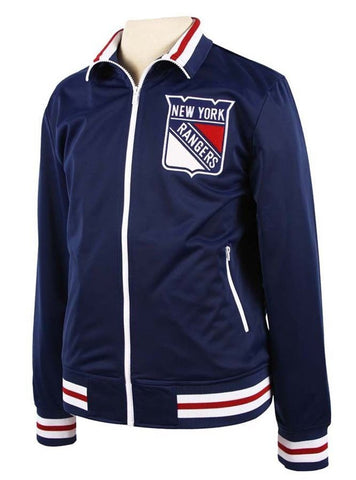 New York Rangers Mens Mitchell & Ness Warm Up Track Jacket
