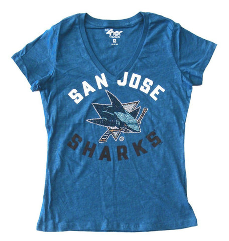San Jose Sharks Women's G-III Strike Zone Tee Teal