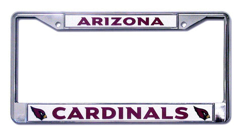 Arizona Cardinals Chrome License Plate Frame
