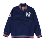 New York Yankees Mens Mitchell & Ness 1/4 Zip Nylon Pullover Windbreaker Jacket
