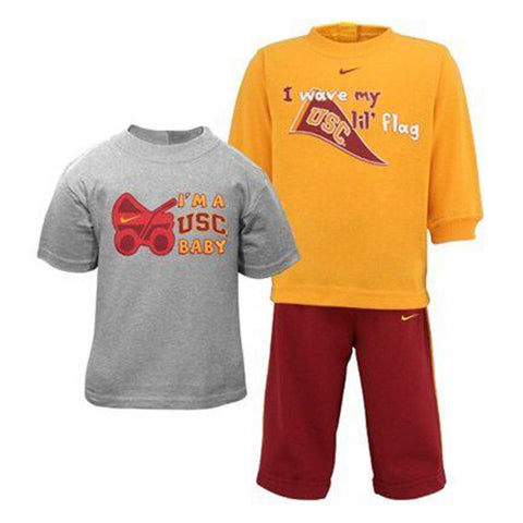 USC Trojans Infant Nike 3-Piece T-Shirt & Sweatpants Set