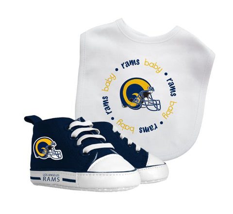 Los Angeles Rams Infant (0-6 Months) Bib & Pre-Walkers Set