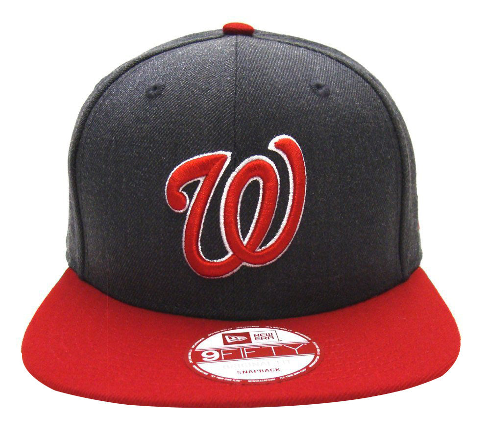 de8682df58e ... clearance washington nationals snapback new era heather graphite cap hat  charcoal red 47df1 cce2f