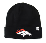 Denver Broncos Beanie '47 Brand Embroidered Fold Knit Cap Black